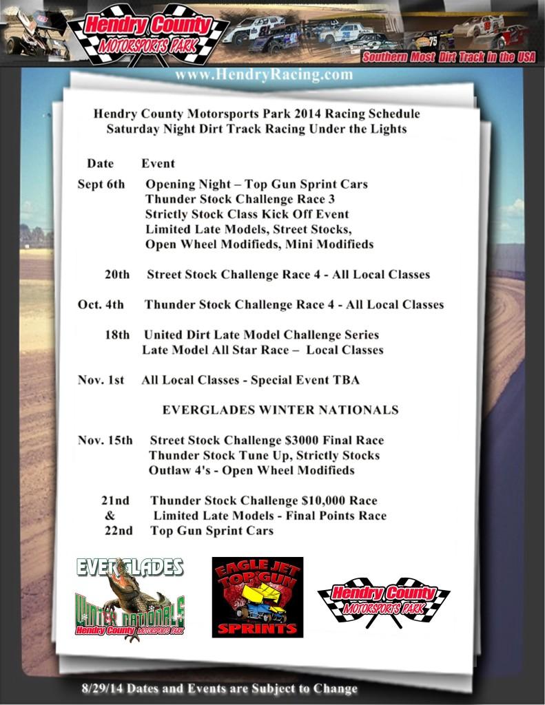 HCMP Fall 2014 Schedule 1